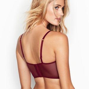 Victoria's Secret Intimates & Sleepwear - NWT Victoria's Secret Padded Velvet Long Line Bra